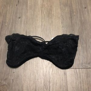 Free People Intimately Lace Bandeau Black Sz Small
